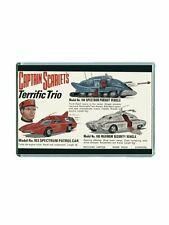 RETRO DINKY TOYS- CAPTAIN SCARLET ADVERT ARTWORK JUMBO FRIDGE/ LOCKER MAGNET