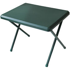 RESIN LOW PROFILE TABLE FOLDING LIGHTWEIGHT TREKKING CAMPING PICNIC GREEN