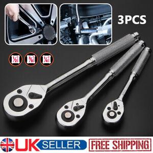"1/4"" 3/8"" 1/2""Inch Quick Release Reversible Extending Ratchet Socket Wrench Tool"