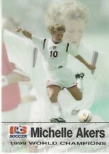 1999 ROOX SOCCER PREMIER SERIES USA WORLD CUP TEAM  * MICHELLE AKERS * CARD #10