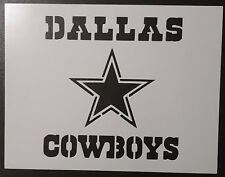 "Dallas Cowboys Star 11"" x 8.5"" Custom Stencil FAST FREE SHIPPING"