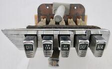 1960 1961 1962 Chrysler 300 MOPAR Heater Control Panel Switch & Bezel