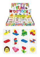 72 Brickz Temporary Tattoos - Pinata Toy Loot/Party Bag Fillers Childrens/Kids