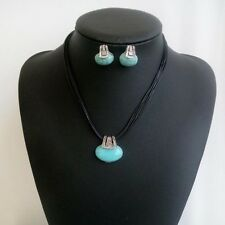 Fashion Female Necklace And Earrings Turquoise Earrings And Necklace Sets Gift