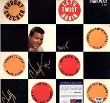 "CHUBBY CHECKER Signed LP VINYL ""LET'S TWIST AGAIN"" PSA/DNA # AC34685"