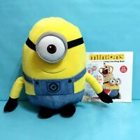 "Despicable Me STUART Minion Plush Stuffed Doll Toy 14"" Toy Factory w/ Book"