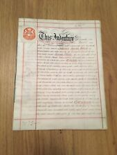Vellum Indenture 1897 Assignment Of Leasehold Dwellings Manchester Rd Warrington