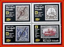 MARSHALL IS. 1984 XIX UPU CONGRESS mnh SHIPS, STAMP on STAMP, ROYAL YACHT