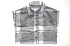 Old Navy Baby Girls Poncho Collared Button Front Plaid Gray Infant Sz 18M to 24M