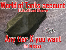 World of Tanks EU, NA, RU and ASIA - Any Tier X Account - Preorder