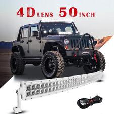 "4D 50"" 672W CREE Curved Led Light bar Pickup Spot Flood Truck 4WD SUV ATV White"