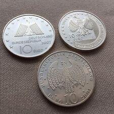 10 EURO GERMAN 3 COINS PURE SILVER YEAR 2004 EUROPEAN UNION COIN GERMANY