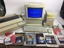 Vintage Apple IIGS System Monitor Floppy Drives Joystick Games ImageWriter II +!