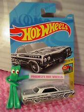 '64 IMPALA #326❀white;black/white❀ART CARS '5' ❀2018 i Hot Wheels WW case P/Q