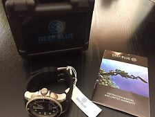 New Deep Blue Master 1000 Automatic 200m Mens Dive Watch w Hydro 91 Strap