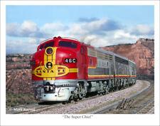 """Santa Fe Super Chief Railroad Art Print - 11"""" x 14"""""""