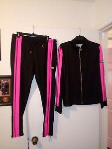 Victoria Secret PINK track pants & jacket, pink & black (L)