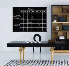 Chalkboard Sticker Calendar Organizer Decor Adhesive Wall Decal Office Home TMS