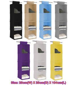 4 level pocket Storage Hanging Organizer Warerobe Shoes Rack Closet AU ^#