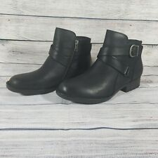 Born Chaval Women Leather Booties Black 8M