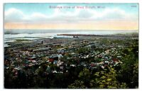 Early 1900s Birds-Eye View of West Duluth, MN Postcard