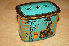 Antike Meßmer Tee Blechdose Jubiläums Mischung Ceylon Darjeeling Geisha 1960