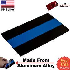 """3D Metal Thin Blue Line Sticker Decal Blue Lives Matter Police Emblem 3.5"""" x 2"""""""