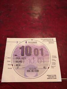 Car Tax Disc, From King Edward V111 Buick