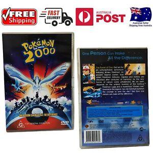Pokemon The Movie 2000 Dvd LIKE NEW FREE POSTAGE