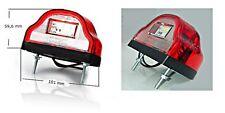 LED Kennzeichenbeleuchtung Nummernschildbeleuchtung Weiß + Rot Hella12/24V Nr409