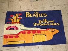 Estate Find / Vintage The Beatles Yellow Submarine Flag Wall Decor Rock N Roll
