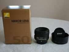 Nikon Nikkor AF-S 50 mm F/1.8G Lens - Black (Mint+++ Condition)
