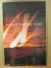 """vintage The X Files Tv series """"Fight the future"""" poster 1998 6901"""