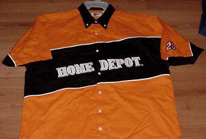 Tony Stewart Home Depot Uniform Pit Crew Shirt Nascar Free Shipping in USA