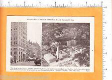 6476 Third National Bank c 1920 advertising postcard Springfield, MA