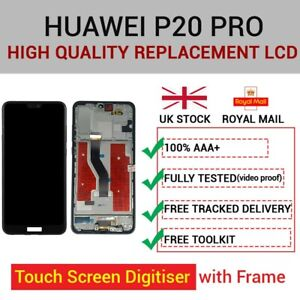 For Huawei P20 Pro Replacement LCD TFT Display Touch Screen Digitiser WITH FRAME