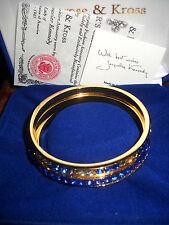 Camrose & Kross Jacqueline Kennedy Set of 3 Simulated Sapphire Bangle Bracelets