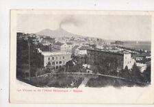 Le Vesuve Vu de l'Hotel Britannique Naples Italy Vintage Postcard 619b