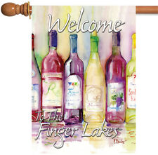 Toland Reds and Whites Welcome to the Finger Lakes 28 x 40 Regional House Flag