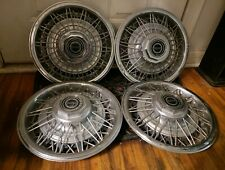 "Set of 4 OEM 1981-85 Ford Fairmont Mustang Capri 14"" Wire Hubcaps Wheel Covers"