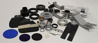 Lot of Bausch Olympus Leica Nikon Misc Microscope Camera Lens Filter EyePiece