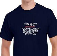 Democrat Halloween Costume Trump Conservative Right Navy Blue Cotton T-shirt