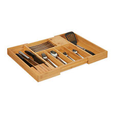 Caja cubiertos bambú extensible cajones uso uso cubiertos cubiertos depósito