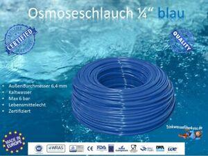 "Osmoseschlauch Osmoseleitung Blau 1/4"" 6mm Umkehrosmose SBS Kühlschrank-Leitung"