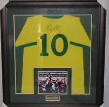 PELE Hand Signed & Framed Brazil  Brasil Jersey  Photo Proof