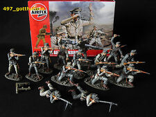 1/32 AIRFIX WW2 PROFESSIONALLY PAINTED+BOXED GERMAN DAK AFRIKA KORPS X 14.
