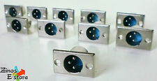 XLR Buchse 3 pol Adapter Einbaubuchse Steckverbinder 10 Stück