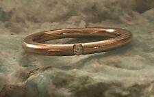 Sleek Gorgeous 18k Rose Gold with Diamond Size 6 1/2 Ring