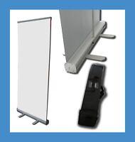 SPUCKSCHUTZ Trennwand Roll Up Display 150 x 200 cm mit weißem Banner