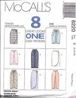 8220 UNCUT Vintage McCalls SEWING Pattern Misses Mock Wrap Skirt OOP Summer NEW